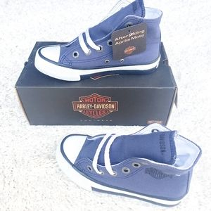 """Harley-Davidson Kids """"Patch Blue"""" Canvas Sneakers"""
